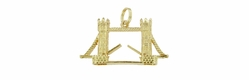 Movable Tower Bridge Pendant in 9 Karat Gold