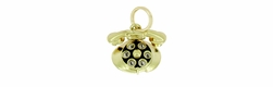 Movable Dial Telephone Charm in 14 Karat Gold