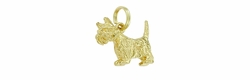 "Scottish Terrier ""Scottie"" Dog Charm in 14 Karat Gold"