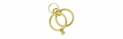 Wedding Ring and Engagament Ring Charm in 14 Karat Gold