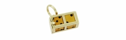 Movable Lucky Dice Charm in 14 Karat Gold