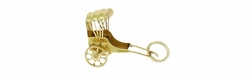 Movable Rickshaw Charm in 14 Karat Gold
