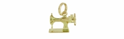 Movable Sewing Machine Charm in 14 Karat Gold