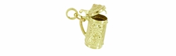 Movable Beer Stein Charm in 9 Karat Gold