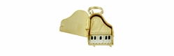 Enameled Movable Piano Charm in 14 Karat Gold