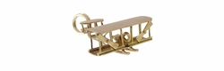 Double Engine Biplane Charm in 14 Karat Gold