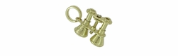 Moveable Binoculars Charm in 14 Karat Gold