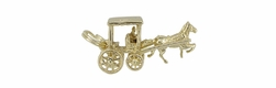 Bermuda Horse Drawn Carriage Movable Charm in 9 Karat Gold