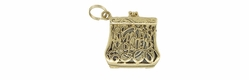 Mad Money Purse Movable Charm in 14 Karat Yellow Gold