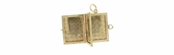 Movable Opening Book Locket Charm in 14 Karat Gold