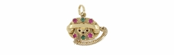 Movable Telephone Charm in 14 Karat Gold