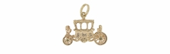 Royal Carriage Movable Charm in 9 Karat Gold