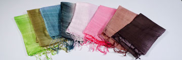 Shimmering Silk Scarves from Thailand