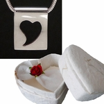 Meaningful Jewelry within Heart Shaped Origami Boxes (Paper for 1st Anniversary)