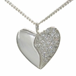 25 Diamond Silver Harmony Heart (Pave Set)