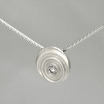 Diamond Droplet (Sterling Silver)