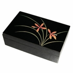 Japanese Lacquerware Orchid Jewelry Box