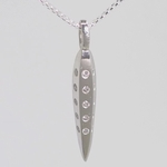 Platinum Facet Necklace with 25 Diamonds - New!
