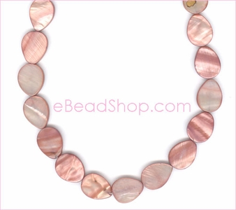 Mother of Pearls<br>Teardrop Top Drilled Pink
