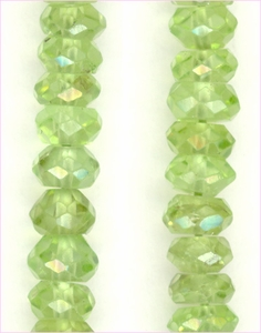 Peridot Facet Roundelle 2-5mm