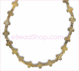 Mother of Pearls<br>Small Gold Cross