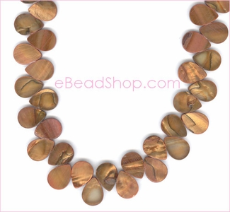 Mother of Pearls<br>Cooper Side Drilled Drops