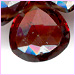 Garnet Side  Drilled Faceted Drops