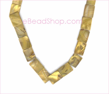 Mother of Pearls<br>Gold Rectangular