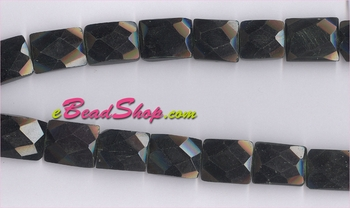 Black Obsedian� Faceted<br>12x20mm