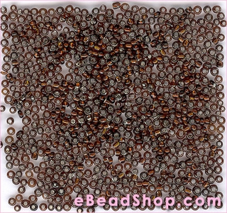 Seed Bead Brown Silver Lined