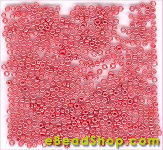 Seed Bead Coral Luster Opaque