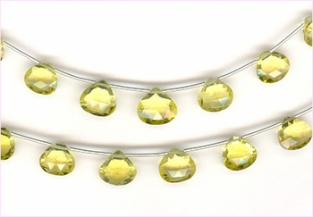 Lemon  Quartz  Faceted Drops AA
