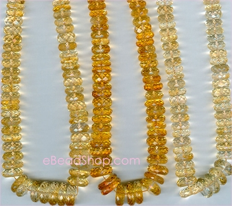 Citrine Facetted Tyre<br>10 to 14 mm