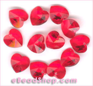 Swarovski  Beads Hearts Light Siarm #227