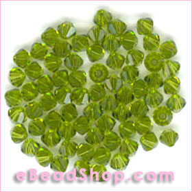 Swarovski  Beads Olivine 4 mm  #228