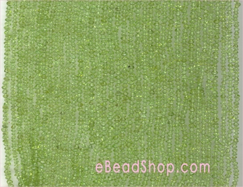Peridot faceted Roundell 3 to 4 mm