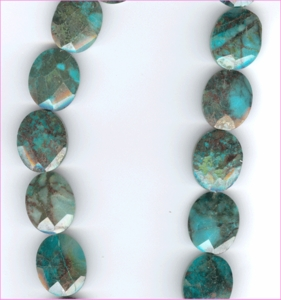 Azurite 15x20 Faceted Oval