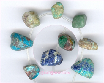 Azurite Free Form Tumble Drops