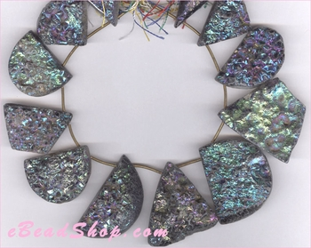Druzy Mixed Color Anodized Nuggets 25 x 30 mm