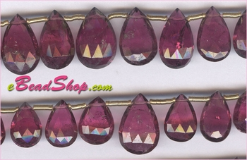 Pink Tourmaline Faceted Drops AA<br>4x6 to 7x10 mm