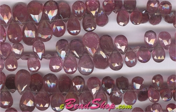 Pink Tourmaline Briolette Drops<br>5x7 to 7x13 mm