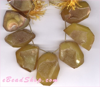 Druzy Anozided Brown Nuggets 25 x 35 mm