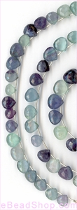 Flourite Facetted Hearts