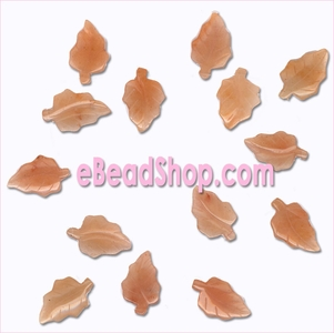 Leaf Beads Carnelian<br>Oak 30 x 18 mm