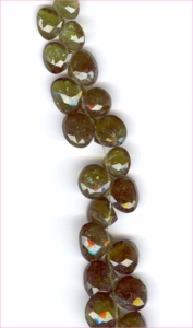 Chrome Tourmaline Green Faceted Hearts