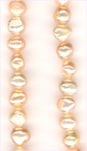 Pearl Peach Irregulars 8 x 7