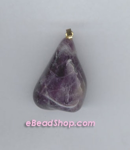 Amethyst Stone Pendent with Bail (No Two Alike)
