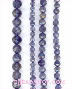 Iolite Roundelle Faceted 3-4mm