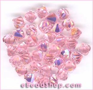 Swarovski  Beads Light Rose Aurora Borealis 6mm #223