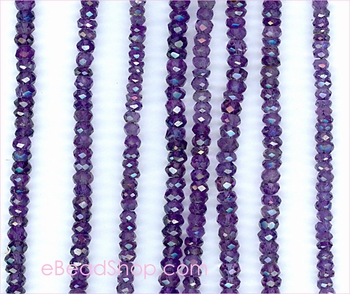 Amethyst Facetted Purple 4 mm